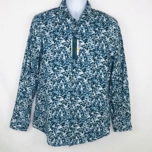 Perry Ellis Abstract Print Button Down Shirt
